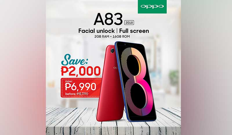 OPPO A83 Launches In The Philippines: Face Unlock And A l